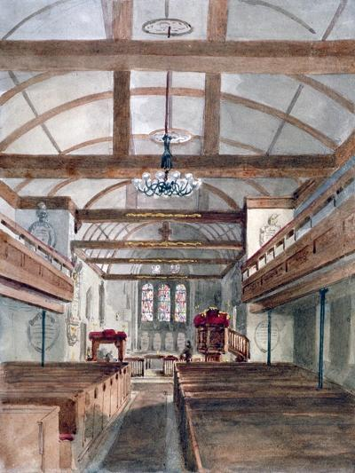 Interior View of St Pancras Old Church, London, 1853--Giclee Print