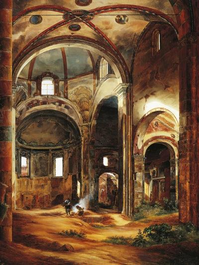 Interior View of St Peter's Basilica in Ciel D'Oro, Pavia, 1854-Suzanne Valadon-Giclee Print