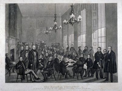 Interior View of the British Coffee House on Cockspur Street, Westminster, London, 1839--Giclee Print
