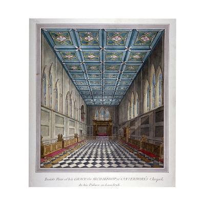 Interior View of the Chapel in Lambeth Palace, London, C1810--Giclee Print