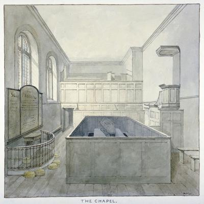 Interior View of the Chapel in Newgate Prison, Old Bailey, City of London, 1840-Frederick Nash-Giclee Print