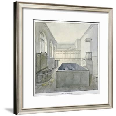 Interior View of the Chapel in Newgate Prison, Old Bailey, City of London, 1840-Frederick Nash-Framed Giclee Print