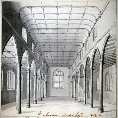 Interior View of the Church of St Andrew Undershaft, Leadenhall Street, London, C1820-Wheeler-Giclee Print