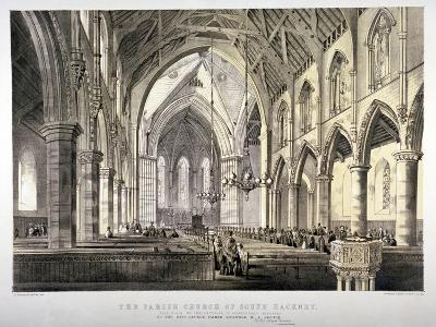 Interior View of the Church of St John of Jerusalem, Hackney, London, C1850-CJ Greenwood-Giclee Print