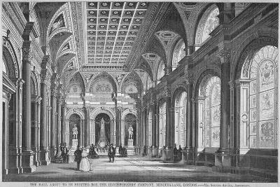Interior View of the Clothworkers' Hall, Mincing Lane, City of London, 1856-Samuel Angell-Giclee Print