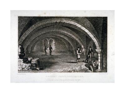 Interior View of the Crypt, St Saviour's Church, Southwark, London, 1830-J Shury-Giclee Print