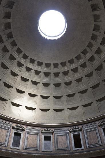 Interior View of the Cupola Inside the Pantheon, Piazza Della Rotonda, Rome, Lazio, Italy-Stuart Black-Photographic Print