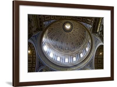 Interior View of the Dome of St. Peter's Basilica, Vatican, Rome, Lazio, Italy, Europe-Peter-Framed Photographic Print