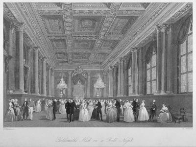 Interior View of the Goldsmiths' Hall on a Ball Night, City of London, 1840-Harden Sidney Melville-Giclee Print