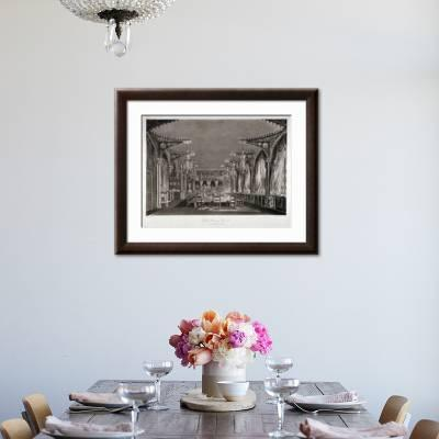 Interior View of the Gothic Dining Room in Carlton House, Westminster,  London, 1819 Giclee Print by Thomas Sutherland | Art.com