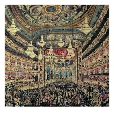 Interior View of the 'Great Lyceum' During a Carnival before the Fire Which Destroyed the Theatre-Spanish School-Giclee Print