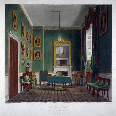 Interior View of the Green Closet in Buckingham House, Westminster, London, 1819-Daniel Havell-Giclee Print