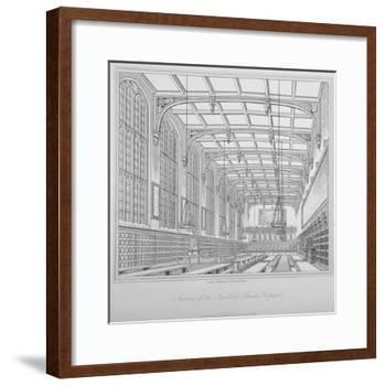 Interior View of the Hall, Christ's Hospital, City of London, 1833-Henry Shaw-Framed Giclee Print