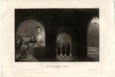 Interior View of the Holy Tomb in the Kiev Monastery of the Caves, 1850--Giclee Print