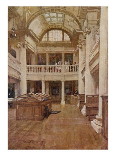 Interior View of the Hornby Library, Liverpool--Giclee Print