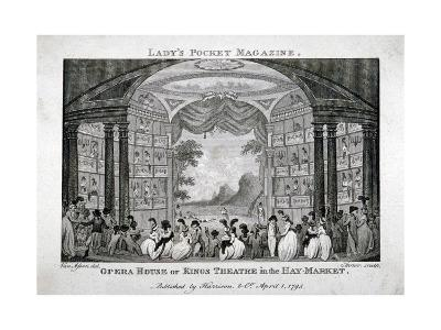 Interior View of the King's Theatre, Haymarket, London, 1795-James Sargant Storer-Giclee Print