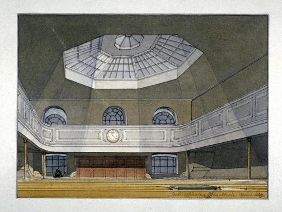 Interior View of the King's Weigh House, Eastcheap, City of London, 1819-Robert Blemmell Schnebbelie-Giclee Print