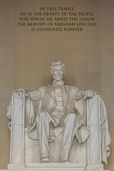 Interior View of the Lincoln Statue in the Lincoln Memorial-Michael Nolan-Photographic Print