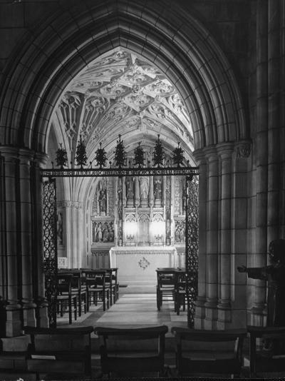 Interior View of the National Cathedral--Photographic Print