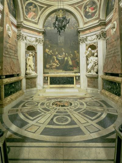 Interior View of the Octagonal Chigi Chapel, Begun by Raphael in 1513 Completed 1652-Giovanni Lorenzo Bernini-Giclee Print