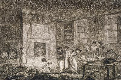 Interior View of the Premises of Nathaniel Bentley, Leadenhall Street, City of London, 1804--Giclee Print