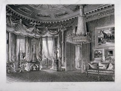 Interior View of the Rose Satin Drawing Room in Carlton House, Westminster, London, 1818-RG Reeve-Giclee Print