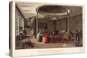 Interior View of the Temple of the Muses Bookshop, Finsbury, London, 1809
