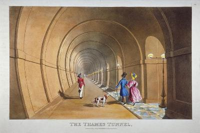 Interior View of the Thames Tunnel, London, 1830--Giclee Print