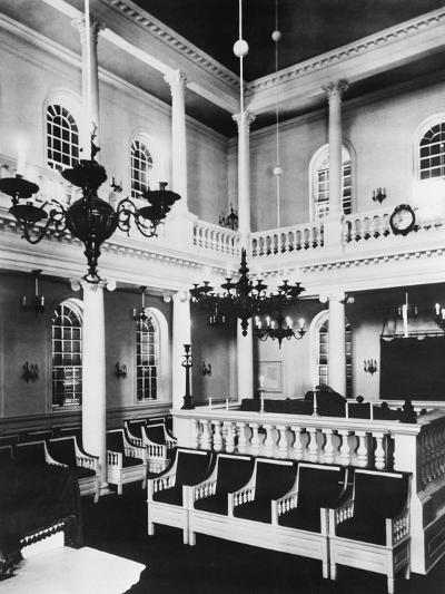 Interior View of Touro Synagogue--Photographic Print