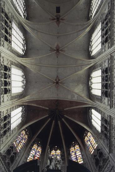 Interior View of Vault of Cathedral of St Rombaut--Giclee Print