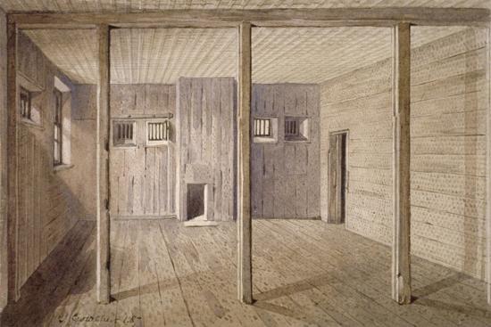 Interior View of White Lyon Prison, Borough High Street, Southwark, London, 1887-John Crowther-Giclee Print