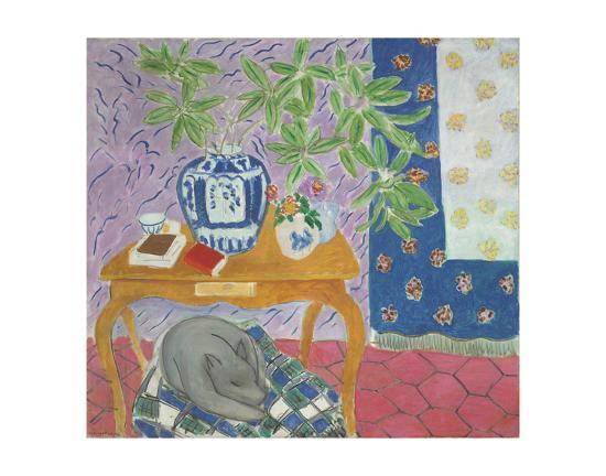 Interior with a Dog, 1934-Henri Matisse-Art Print