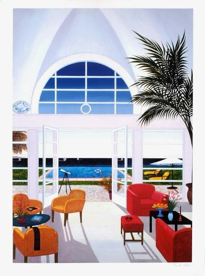 Interior With A Red Armchair-Fanch Ledan-Giclee Print