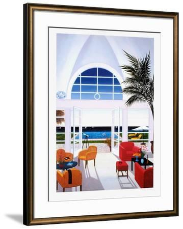 Interior With A Red Armchair-Fanch Ledan-Framed Giclee Print