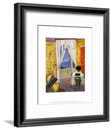 Interior with a Violin Case-Henri Matisse-Framed Art Print