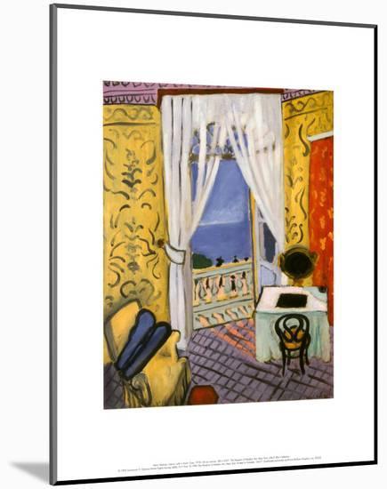 Interior with a Violin Case-Henri Matisse-Mounted Art Print