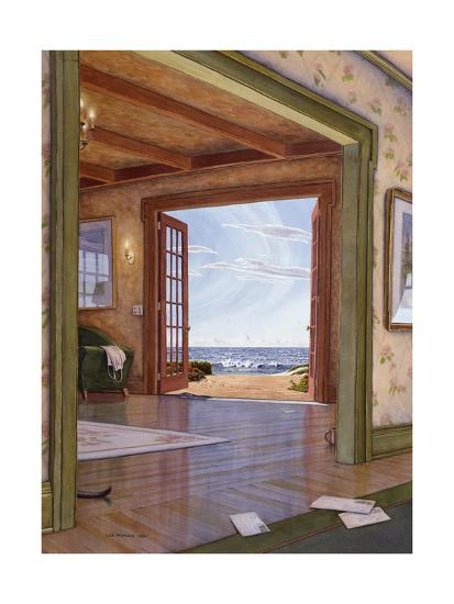 Interior with Cat Tail-Lee Mothes-Giclee Print