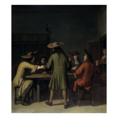 Interior with Cavaliers Smoking-Job Adriaensz Berckheyde-Giclee Print