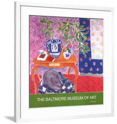 Interior with Dog-Henri Matisse-Framed Collectable Print