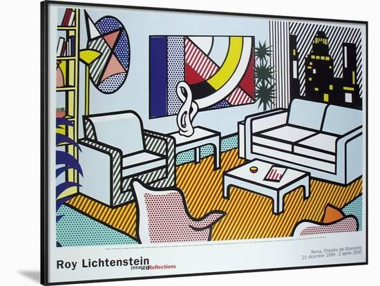 dce5c6bf129e3 Interior with Skyline, Collage for Painting Framed Art Print by Roy  Lichtenstein | Art.com