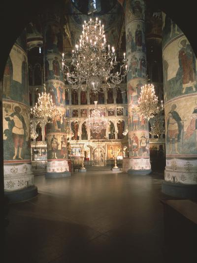 Interior with the Iconostasis in the Assumption of the Blessed Virgin Cathedral--Photographic Print