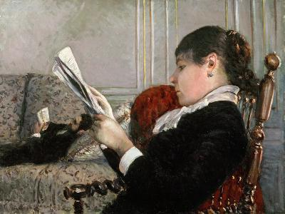 Interior, Woman Reading, 1880-Gustave Caillebotte-Giclee Print