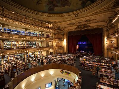 Interiors of a Bookstore, El Ateneo, Avenida Santa Fe, Buenos Aires, Argentina--Photographic Print