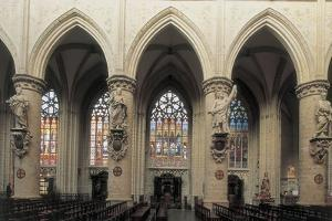 Interiors of a Cathedral, Brussels, Belgium