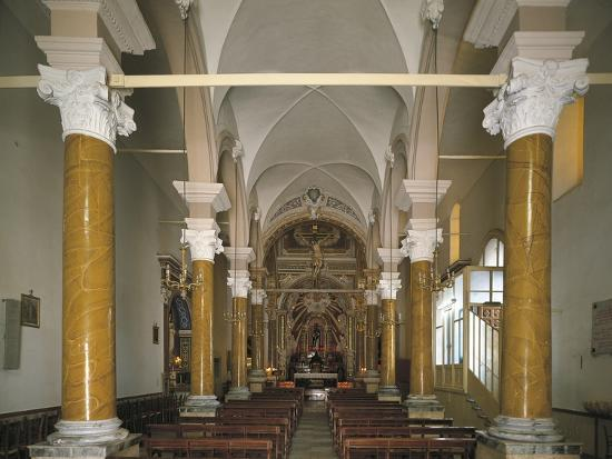 Interiors of a Church, Church of San Calogero, Agrigento, Sicily, Italy--Photographic Print