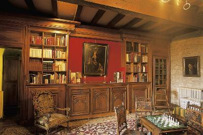 Interiors of a Living Room in a Castle, Chateau De Messac, Auvergne, France--Photographic Print