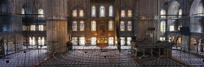 Interiors of a Mosque, Blue Mosque, Istanbul, Turkey--Photographic Print
