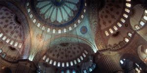 Interiors of a Mosque, Blue Mosque, Istanbul, Turkey
