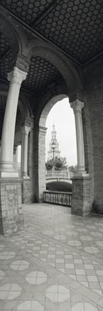 Interiors of a Plaza, Plaza De Espana, Seville, Seville Province, Andalusia, Spain