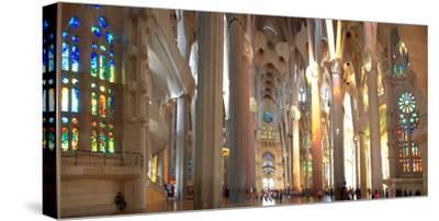 Interiors of La Sagrada Familia, Barcelona, Catalonia, Spain